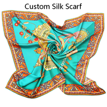 china hangzhou women twill silk scarf 90x90 hand rolled silk scarf
