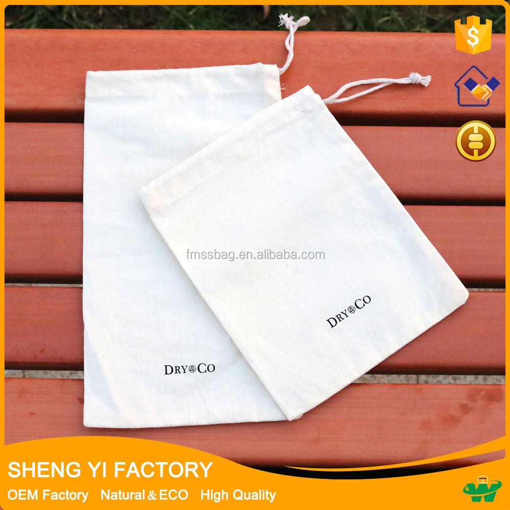 online wholesale <strong>Eco</strong> Cotton Canvas Drawstring Dust pouch Printed logo bag.