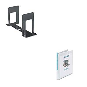 KITAVE19551UNV54095 - Value Kit - Avery Economy Showcase View Binder with Round Rings (AVE19551) and Universal Economy Bookends (UNV54095)