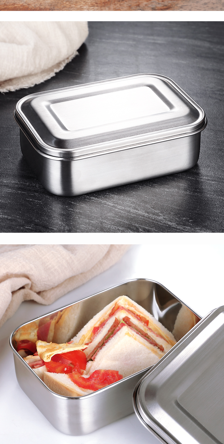 rectangular storage boxes 304 stainless steel lunch box with cover food storage container box with lid meal prep containers