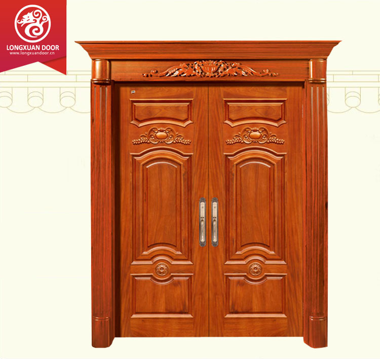 Double used wood exterior door main gate main gate design buy used wood exterior door main for Wooden main gate design for home
