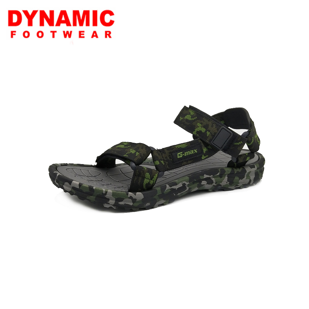2018 Fashion sports eva sandal army green prints sole textile strap sandals for men