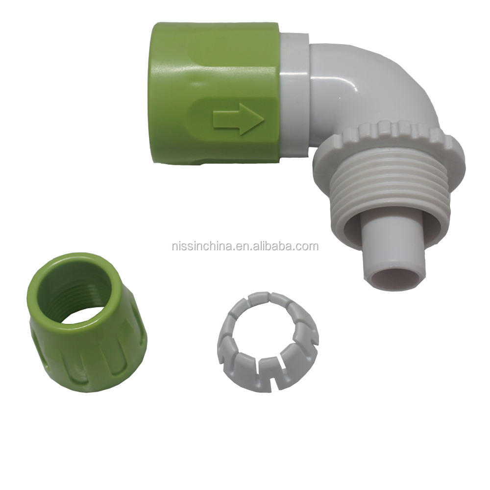 High quality wholesale ABS coupling compression plastic pipe fitting quick connect