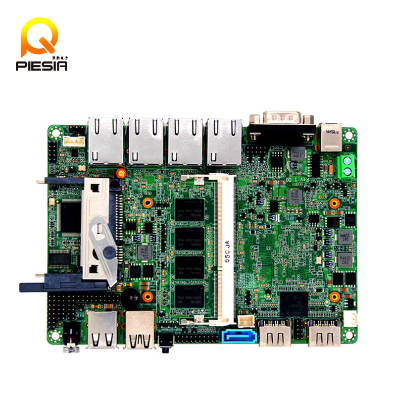 Firewall industrial embedded motherboard ITX_M9F_B Quad core intel baytrail J1900 network Server motherboard with Bypass