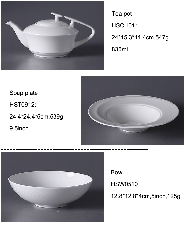 P&T Royal Ware Wholesale ceramics round dinner restaurant plates porcelain tableware set ceramic dinner plate set