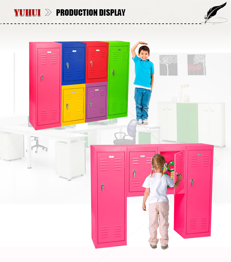 Colorful Boys Locker Room Bedroom Furniture, Decorative Storage Locker  Cabinet