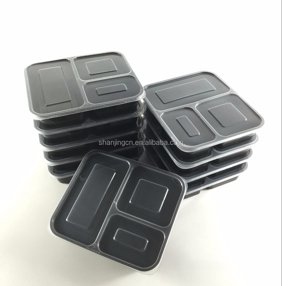Meal Prep containers bpa free, reusable, dishwasher safe, bento box 3 compartment with airtight lids