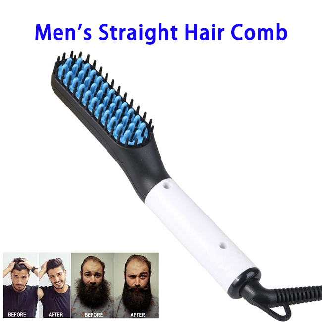 2019 New Product Beard Straightener For Men Ionic Hair Brush Men's Hair Straightener