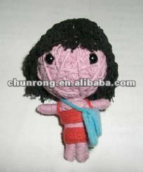 pretty handmade fabric string Voodoo Dolls cute girl doll,little doll pendant