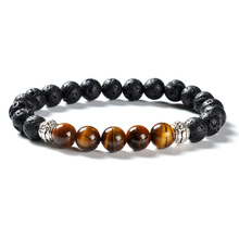 F84 Lava Stone <span class=keywords><strong>Armband</strong></span> Voor <span class=keywords><strong>Mannen</strong></span> Heren <span class=keywords><strong>Armband</strong></span> Tigers Eye Lava Rock Stone <span class=keywords><strong>Armband</strong></span> Wereld Lava Hot Selling Online Verkoop