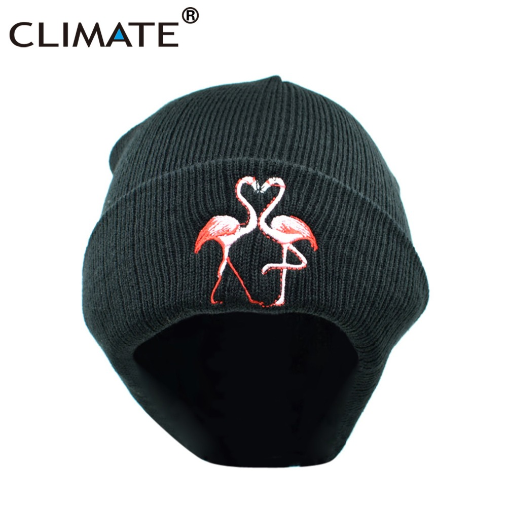 Flamingo Water Unisex Winter Knitting Woolen Hat Warm Cap
