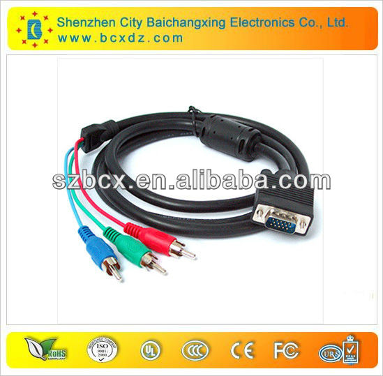 Laptop VGA to TV S-Video RCA AV 3 Adapter Cable Cord
