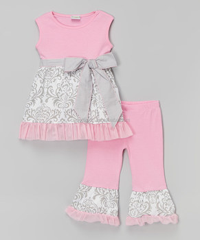Hot Selling Children Frocks Designs Baby Clothes Clothing Set