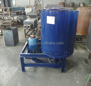 wood powder sawdust glue mixing machine to make wood block