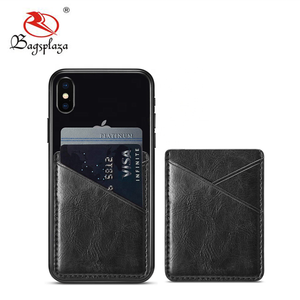 leatherette Smart Wallet Mobile Cell Phone Credit Adhesive Card Holder 3m Sticker Pouch for Phones