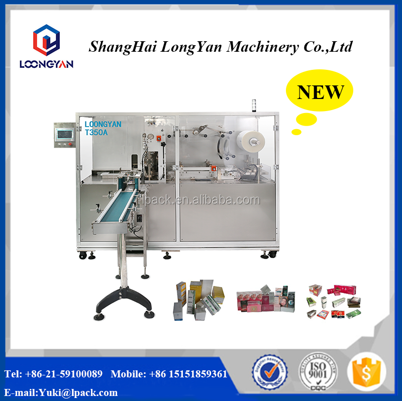 T350A Small Cellophane BOPP Carton Overwrapping Machine for playing card box
