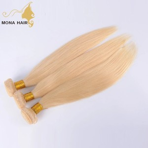 Bleach-able Sew In Human Hair Extensions Blonde Human Virgin Hair