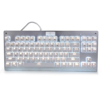 2a70b9ed09b White Backlit Chroma Dimmable Tenkeyless Mechanical Gaming Keyboard 87 Keys  Anti-Ghosting MX Blue Switches