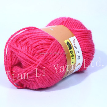 Wholesale Crochet Yarn Wool Blended Yarn Knitting Colorful In Uk