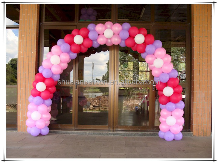 Wedding stage decoration use balloon arch balloon for Balloon decoration for stage