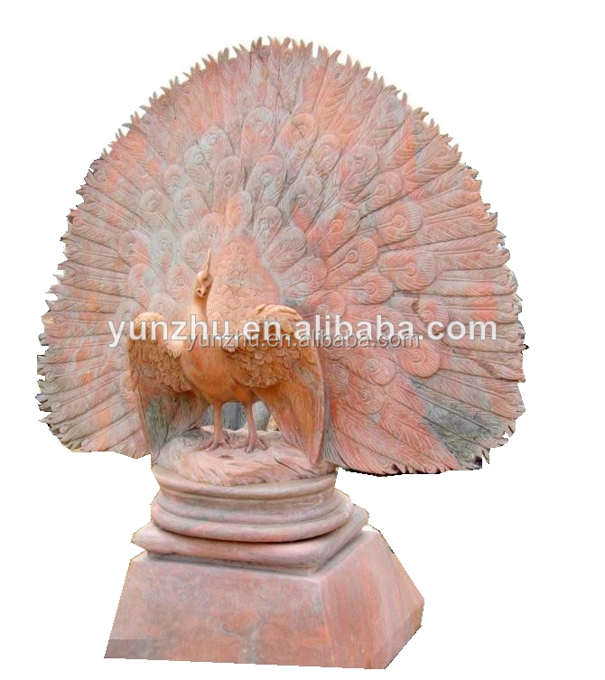 Large Marble Garden Decorative Peacock Statue