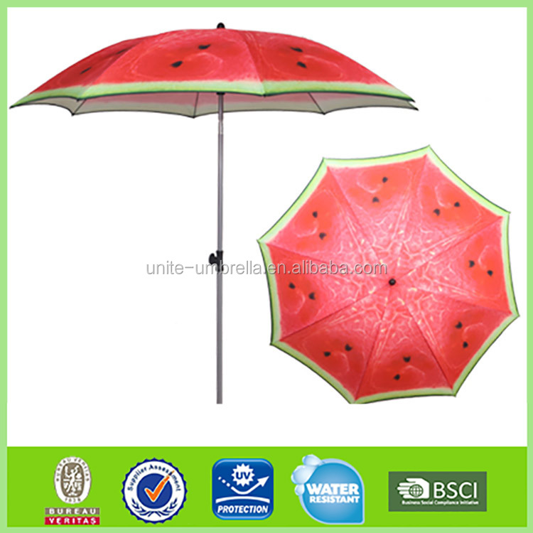 Novo design hot sale 200 cm frutas parasol umbrella beach L-b147