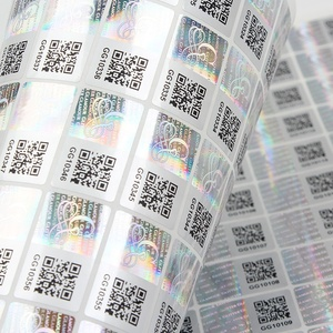 Custom 3D Anti-fake Adhesive Hologram Security Code Sticker Sheet Label