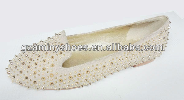 ladies rivets Wholesale design shoes leather flat Fqdv1