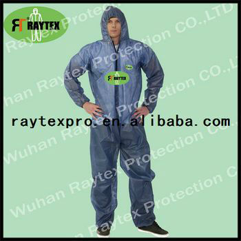 Certified Disposable PP+PE Coverall with Hood (30103)