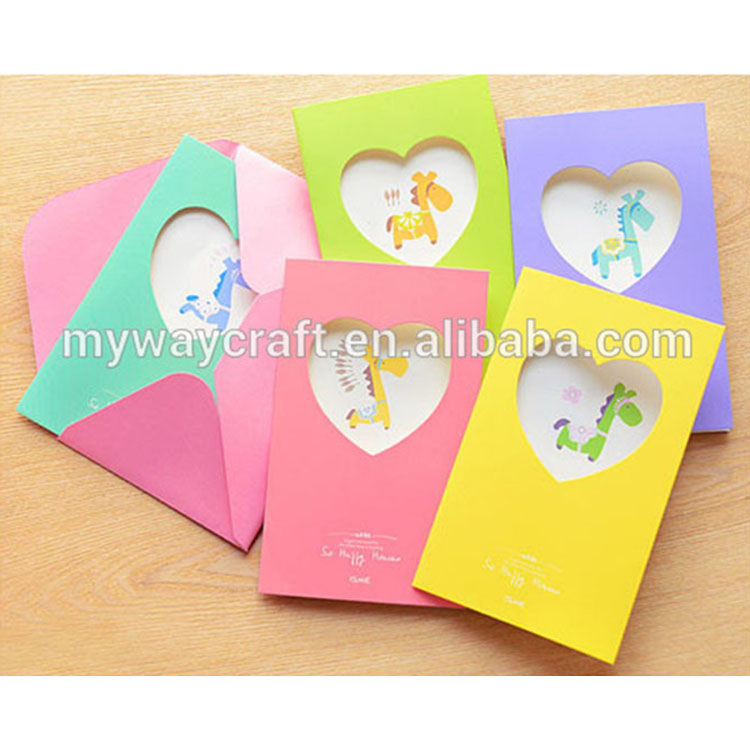 Wondrous Lovely Cartoon Hollow Out Greeting Card Birthday Cards Kids Buy Funny Birthday Cards Online Fluifree Goldxyz