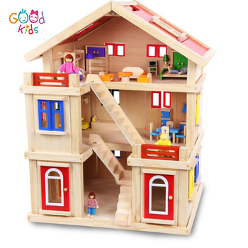 2018 Goodkids Newest Wooden Products 3 Floors Full Furnitures Mini