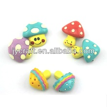 creative resin handicraft mini fake mushroom with smile face design gift brooches