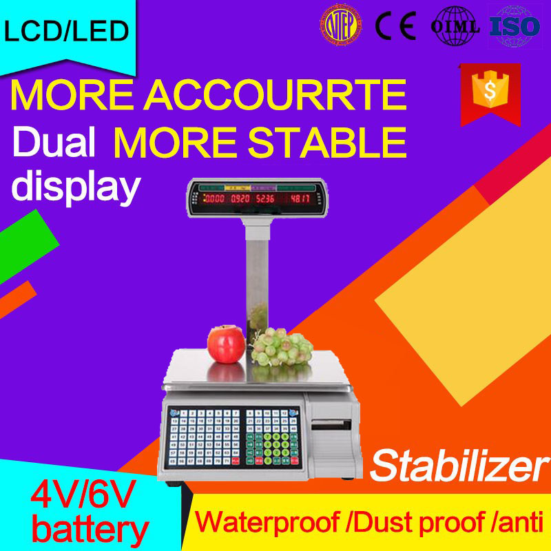 Good price weight barcode scale label printer