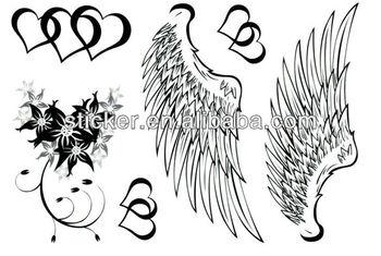 Corazón Con Alas Diseños Tatuajes Temporales Pegatinas Buy Alas