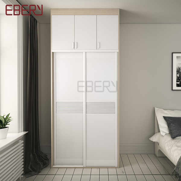 High grade furniture full set 2 sliding door wall wardrobe