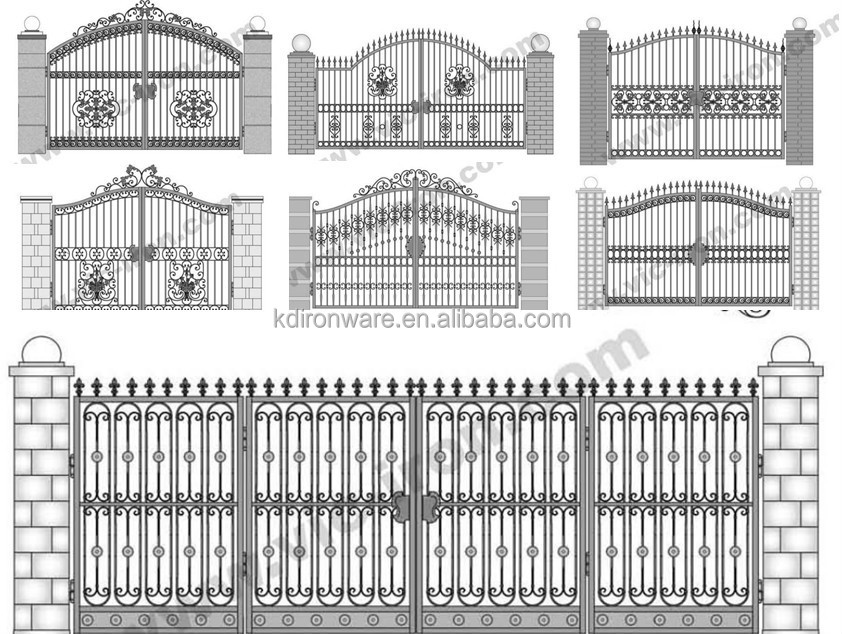 Simple Morden Wrought Iron Main Gate Design, View main iron gate ...