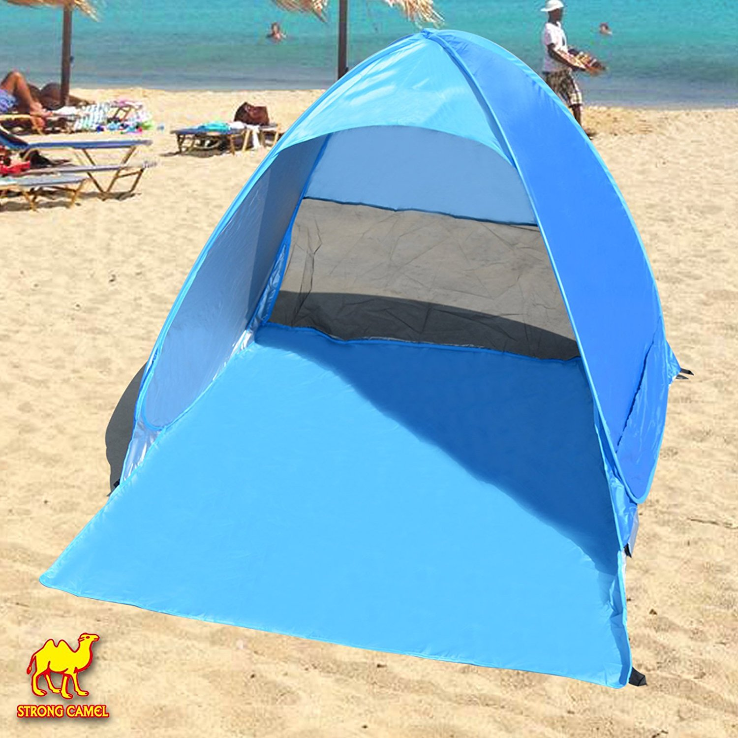 456015042c3f Get Quotations · Strong Camel Pop Up Potable Beach Shelter Tent Camping Sun  Shade Outdoor Canopy