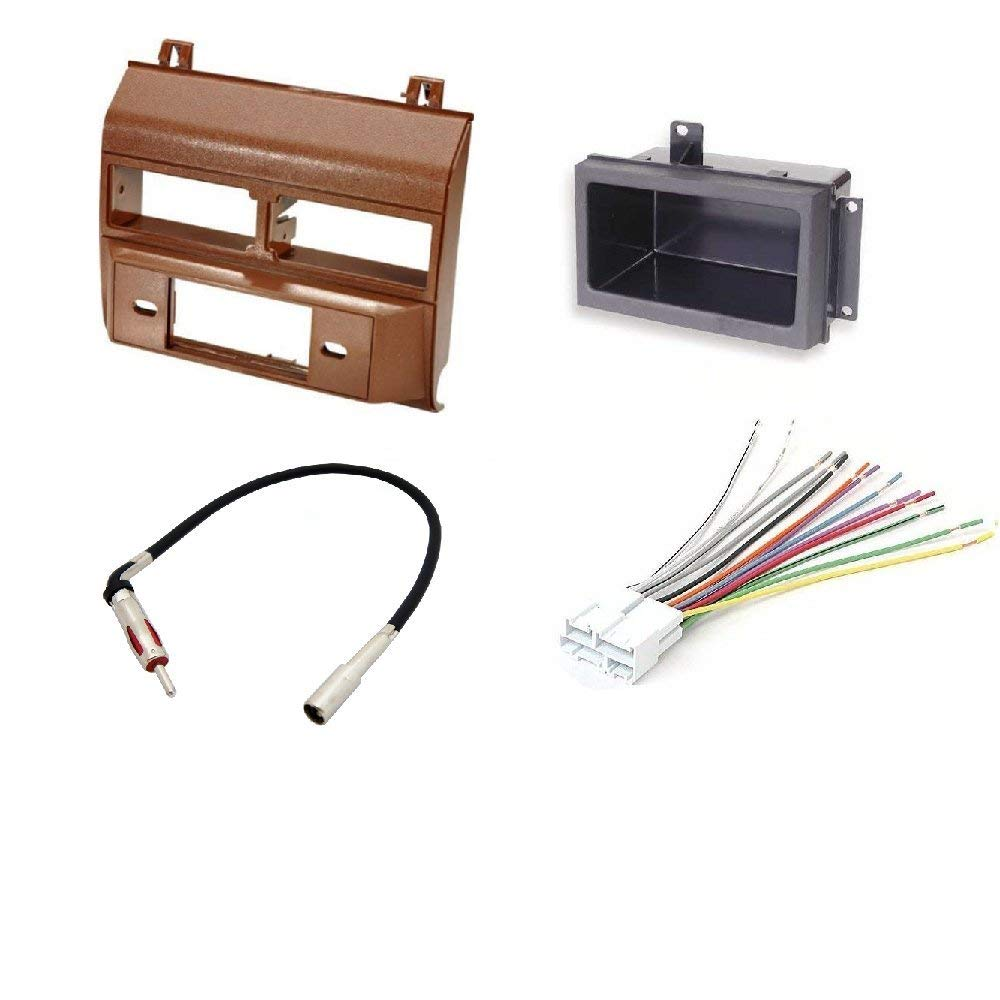 Cheap Gmc Motorhome Dash Find Deals On Line At Gm Radio Wiring Harness Adapter Also As Well Get Quotations 1988 1996 Chevrolet Color Brown Complete Single Din Kit