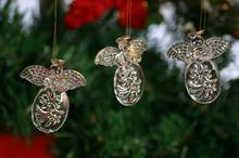 High Quality Factory Price Clear Glass Angel Christmas Tree Ornaments