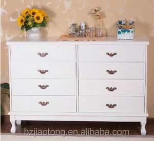 8-Drawer Classic Wooden Console Cabinet