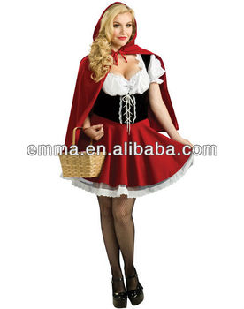 Deluxe Little Red Riding Hood Ladies Fancy Dress Costume BW009