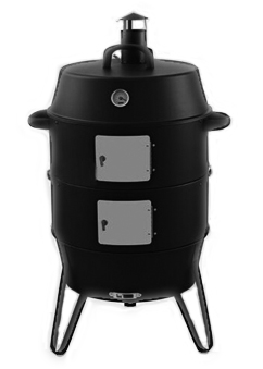 3 in 1 vertical barrel charcoal smoker bbq grill with two. Black Bedroom Furniture Sets. Home Design Ideas