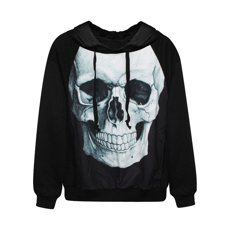 a6763b3fe2c8 Get Quotations · new fashion women men street punk 3d sweatshirts casual  funny graphic pullovers hoodies print skull