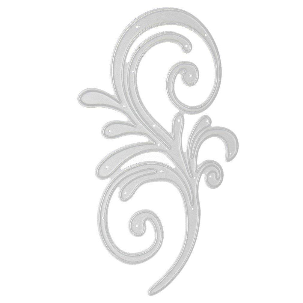 Cutting Dies,Pollyhb New Metal Cutting Dies Stencils Scrapbooking Embossing DIY Crafts,Rabbit Birdie Dog Butterfly Star Grass Goblet,For Card Making Scrapbooking (K:110x71mm)