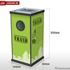 JINKE Customized roadside safety litter can led solar powered low price waste rubbish chute with high quality