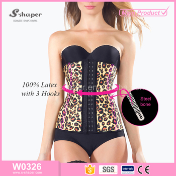s-shaper new arrival plus size waist training corset,blue latex