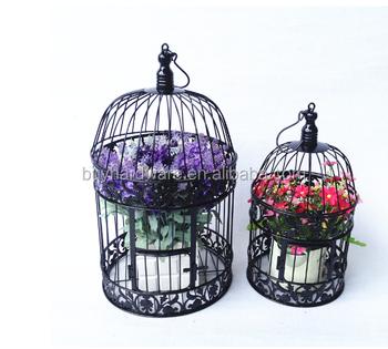 Antique White Metal Bird Cage Iron Bird Cage Decoration Portal Bird
