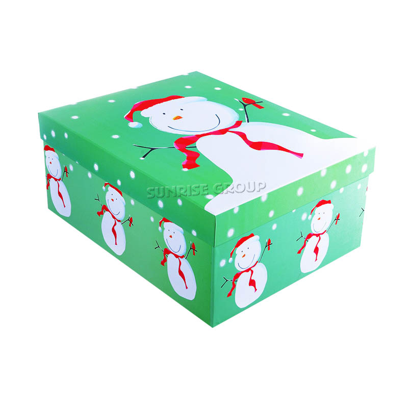 Lid-off Printing Christmas Gift Box