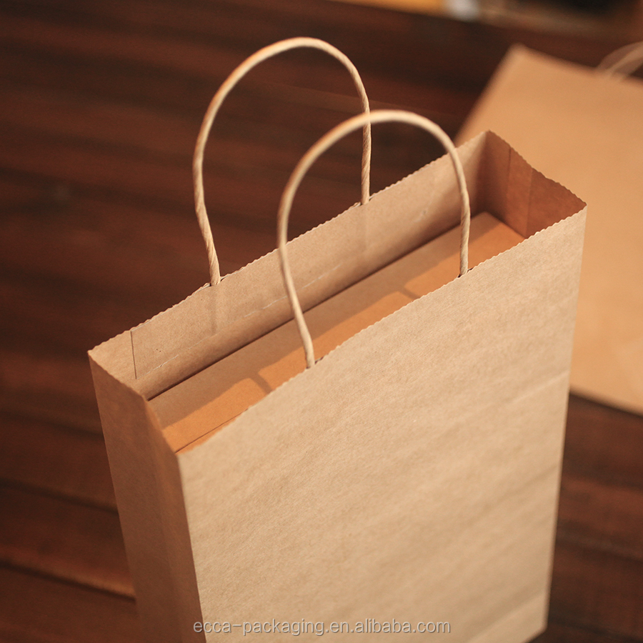 China Market Fruits vegetables Shopping Kraft Paper Bags