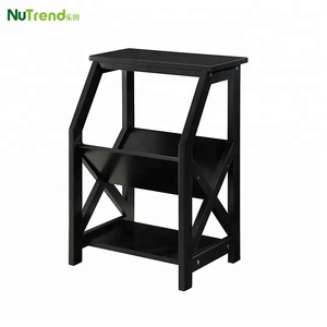 Modern chair corner side table with storage design for living room